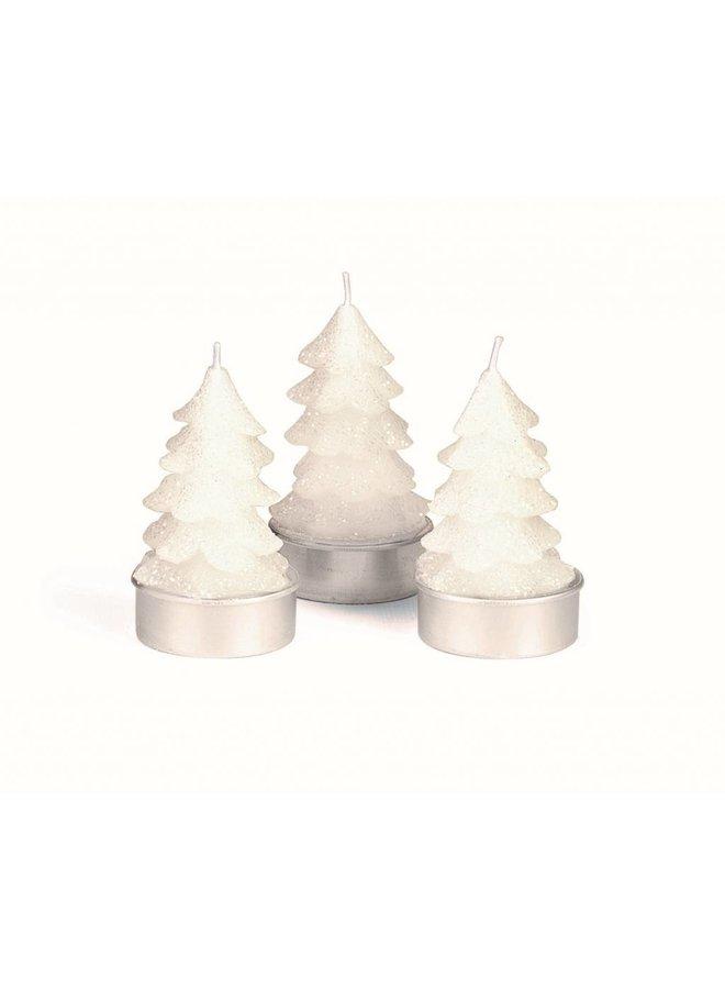 Teelicht Winterzauber | Tanne Weiss | 6er Pack