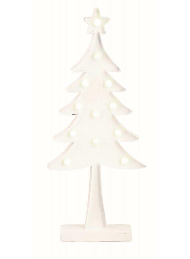 Dekotannne Weiss mit LED Licht