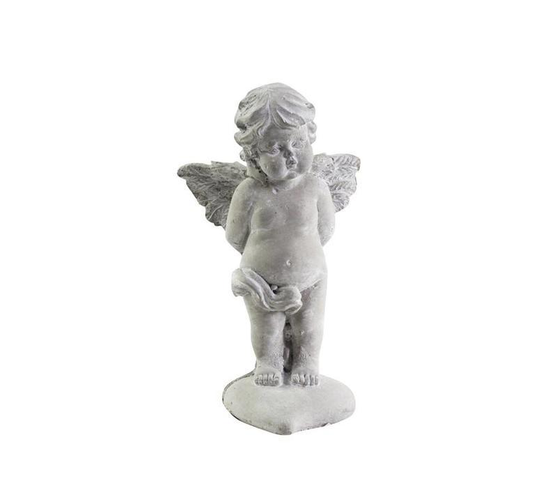 Dekofigur Engel auf Herz | Shabby Chic Weihnachten