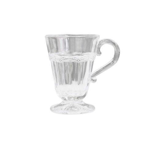 Chic Antique Teeglas Antoinette | mit Perlenkante | weiss