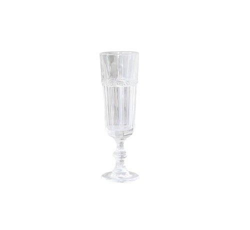 Chic Antique Champagnerglas Antoinette | mit Perlenkante | weiss