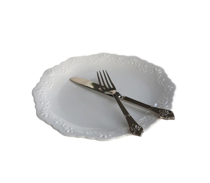 Speiseteller | Provence | Porzellan weiss