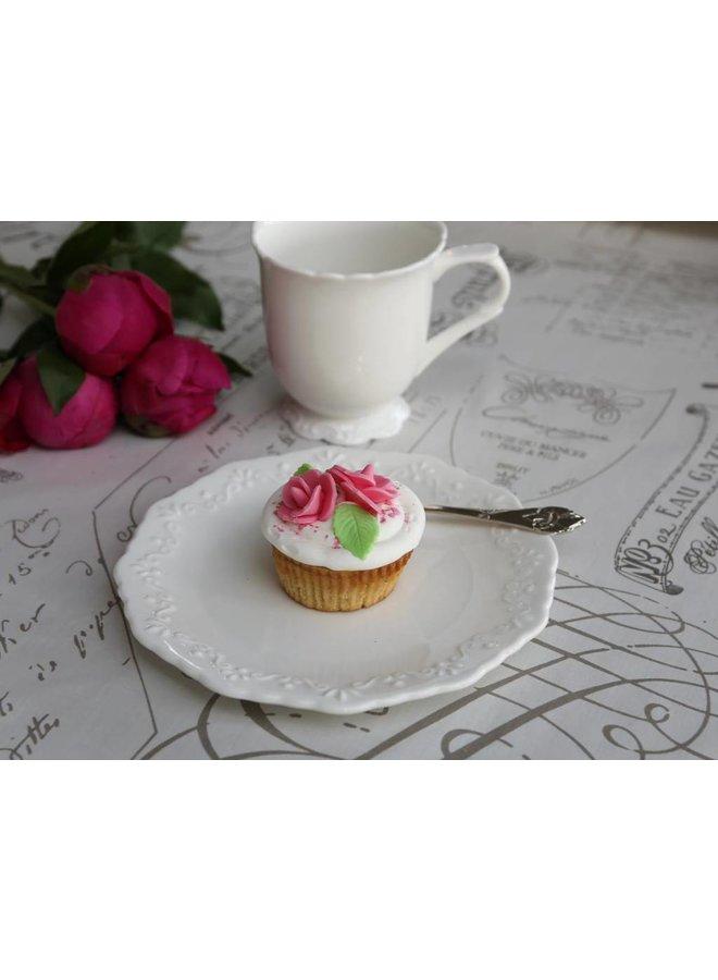 Dessertteller Provence - Porzellan weiss