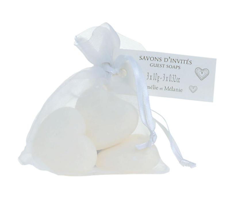 Geschenkseife Herz Klein 3x10gr | Que de l`amour
