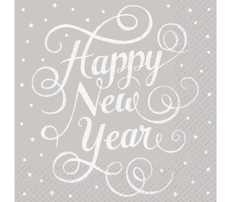 Servietten 30x30cm   Happy New Year