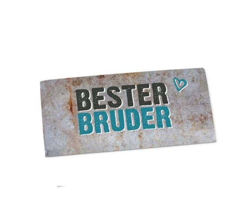 Tafelschokolade   Bester Bruder   Geschenkidee