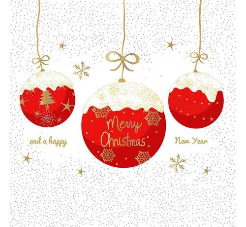 Servietten   A Very Merry Christmas red   100% Tissue