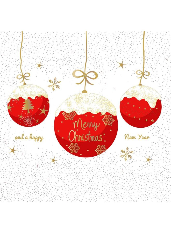 Servietten - A Very Merry Christmas red