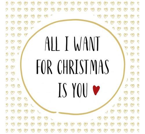 Servietten | Want for Christmas | 100% Tissue