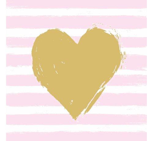 Servietten   Heart & Stripes   100% Tissue
