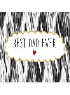 Servietten | Best Dad Ever | 100% Tissue