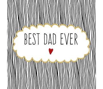 Servietten   Best Dad Ever   100% Tissue