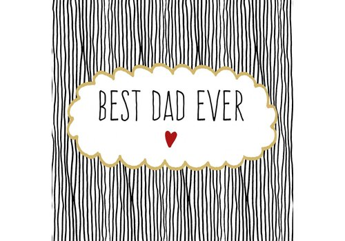 Servietten | Best Dad Ever | 100% Tissue