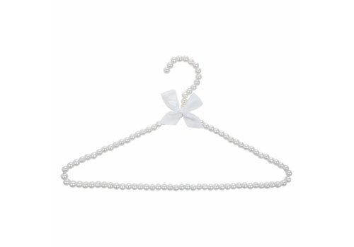 Clayre & Eef Kleiderbügel mit Perlen | Weiss