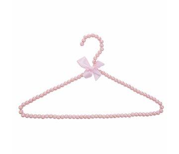 Clayre & Eef Kleiderbügel mit Perlen | Rosa
