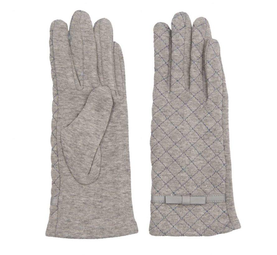 Handschuhe | Grau - Stitching pattern