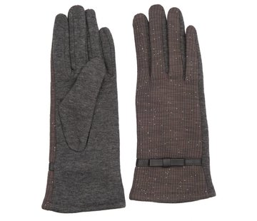 Clayre & Eef Handschuhe | Grau - Lurex
