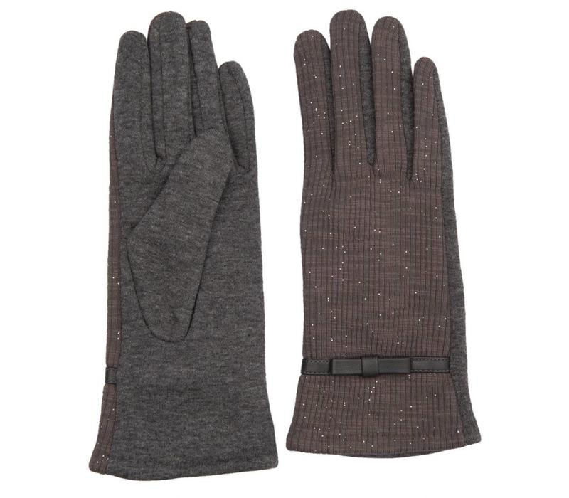 Handschuhe | Grau - Lurex