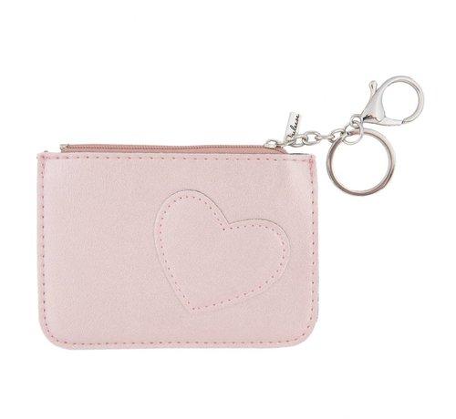 Clayre & Eef Schlüsseletui - Portemonnaie - Geldbörse | Sweet heart - Rosa