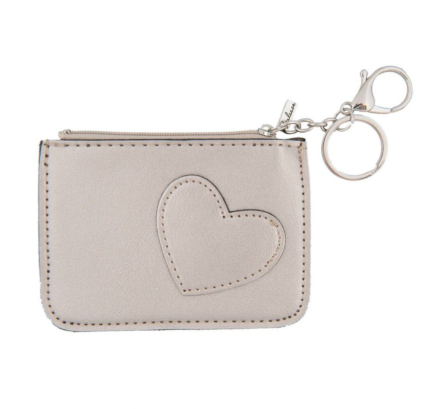 Schlüsseletui - Portemonnaie - Geldbörse | Sweet heart - Silber