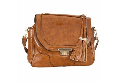 Clayre & Eef Handtasche  | Kunstleder Braun