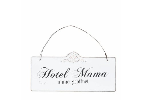 Clayre & Eef Blechschild  | Hotel Mama | 21x15cm