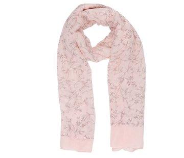 Clayre & Eef Schal Flower lines | Rosa