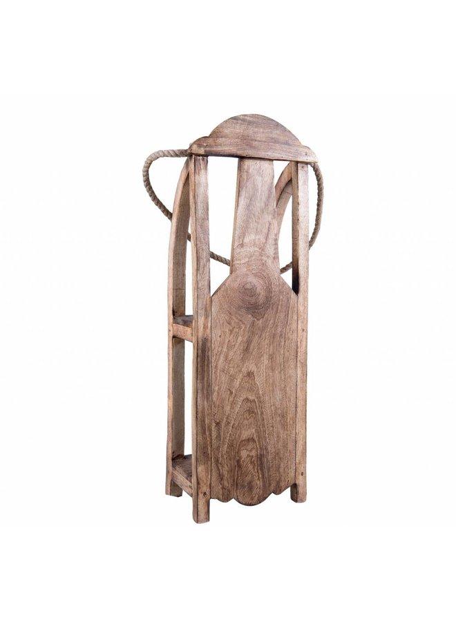 Deko Holzschlitten | Landhausstil 70x25x16cm
