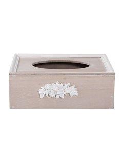 Clayre & Eef Kosmetiktuchbox | Tissuebox | Kleenexbox | Shabby Chic