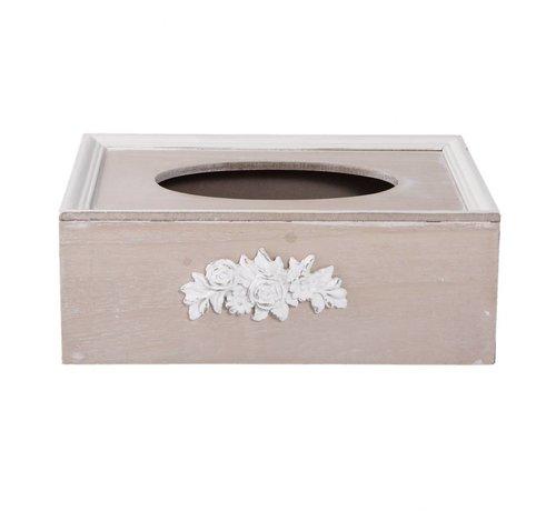 Clayre & Eef Kosmetiktuchbox   Tissuebox   Kleenexbox   Shabby Chic