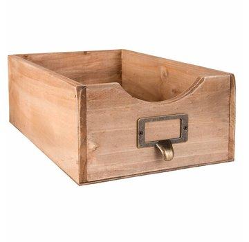 Clayre & Eef Holzchischtli   Vintage Box Braun