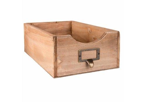 Clayre & Eef Holzchischtli | Vintage Box Braun
