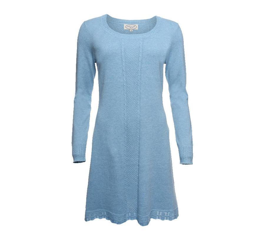 Strickkleid | Agata-light blue