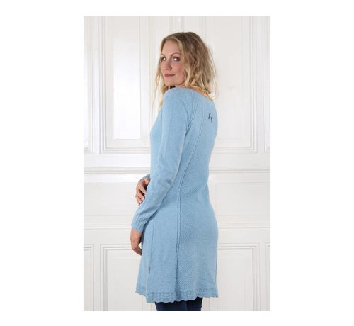 Sorgenfri Sylt Strickkleid | Agata-light blue