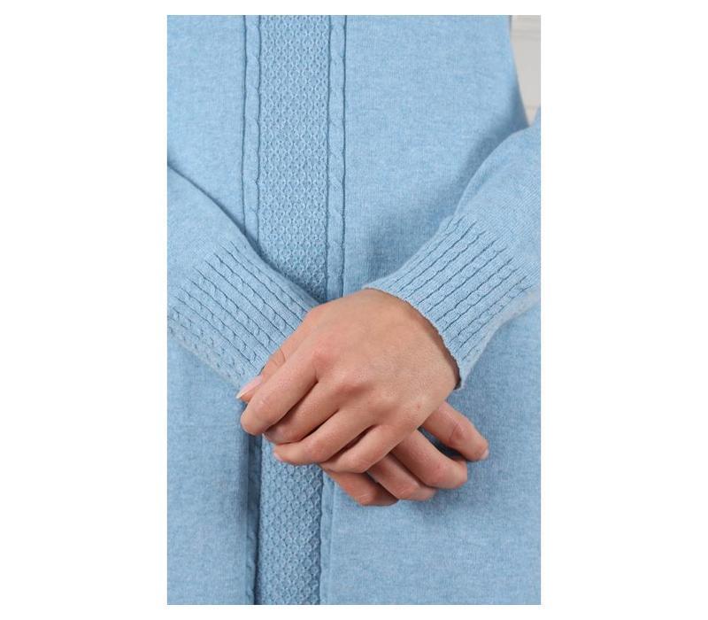 Strickkleid   Agata-light blue