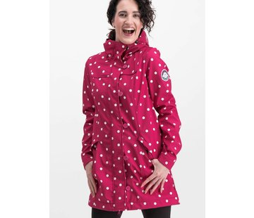 Blutsgeschwister Softshell-Parka | wild weather long anorak - pink point