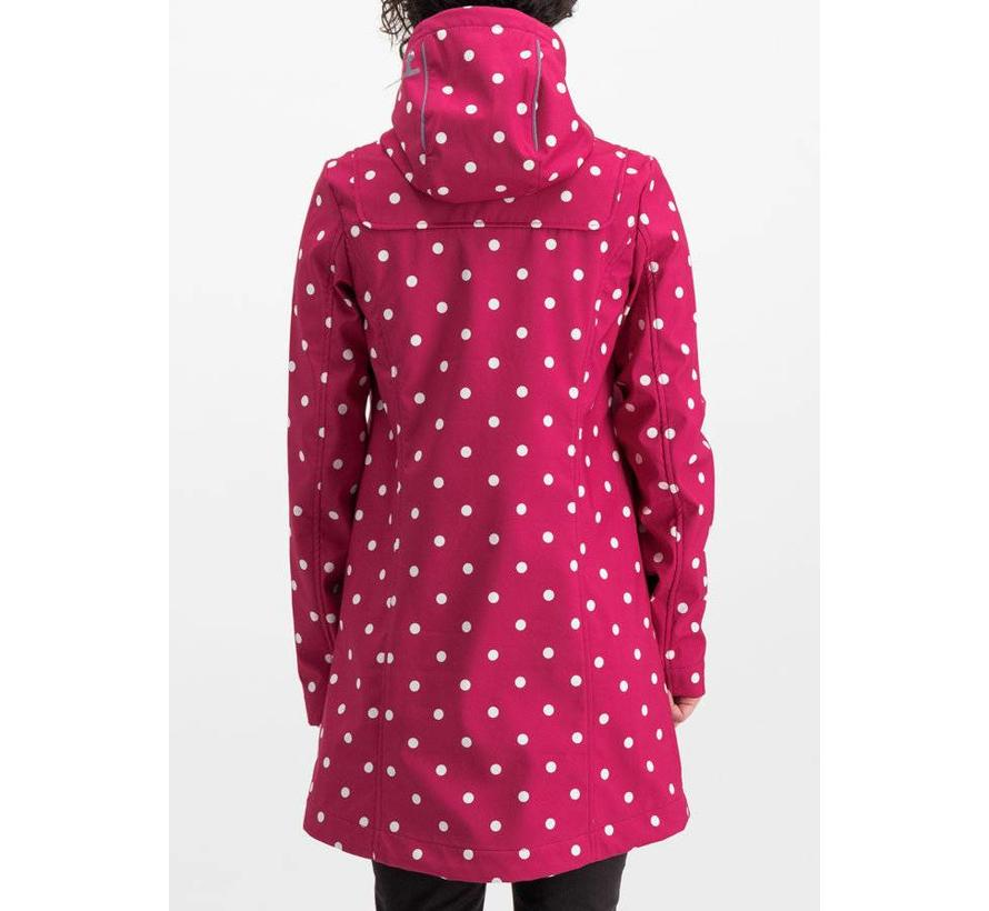 Softshell-Parka | wild weather long anorak - pink point