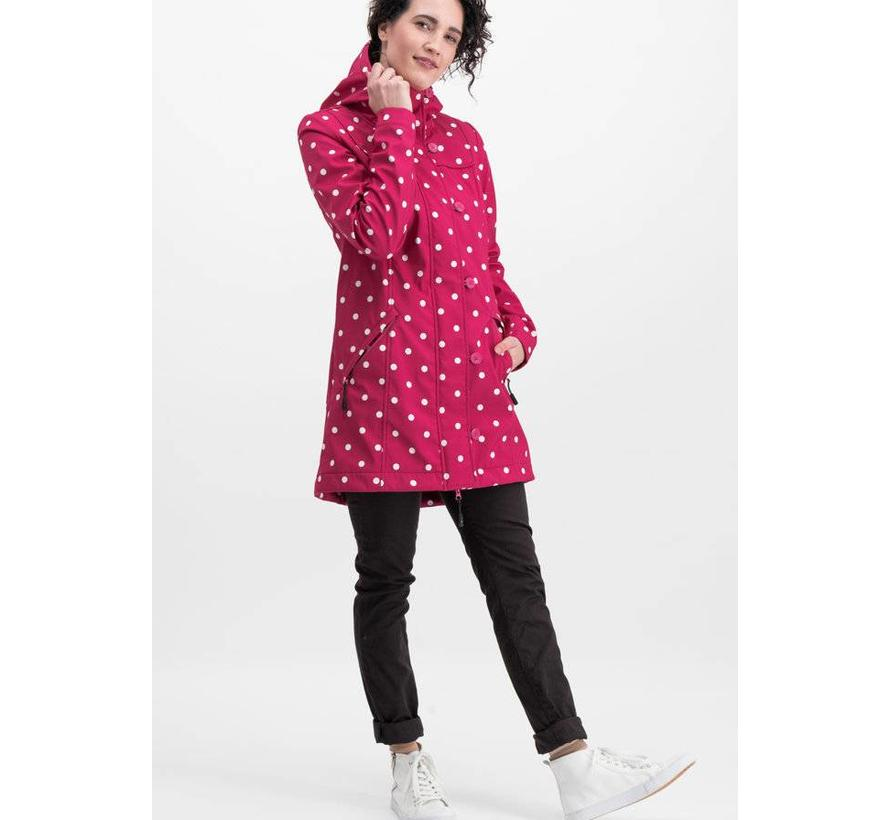 Softshell-Parka   wild weather long anorak - pink point