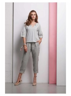 DEHA Hose aus Leinen - pearl grey