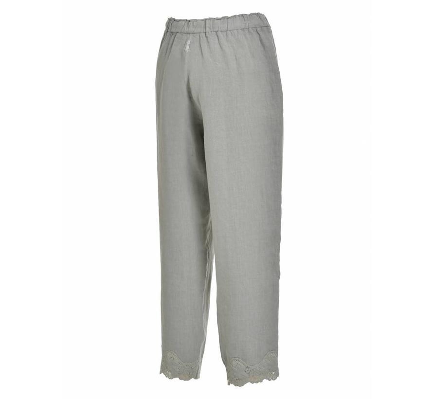 Hose aus Leinen - pearl grey