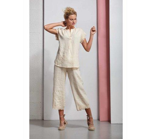 DEHA Kurze Bluse aus Leinen - Lily White