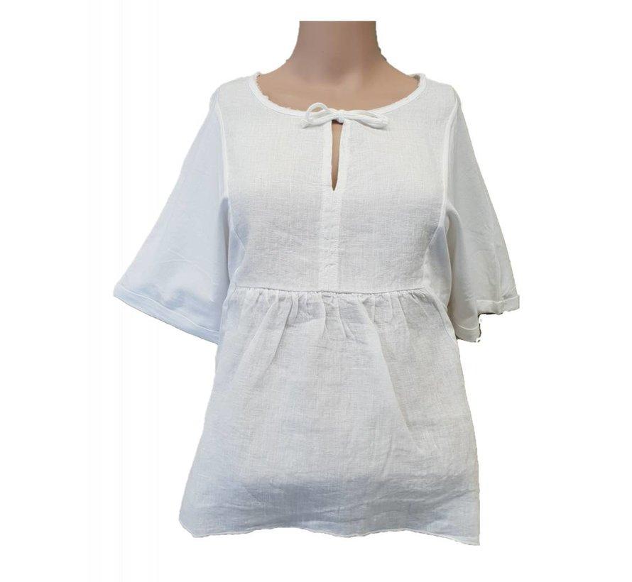 T-Shirt aus Leinen - White