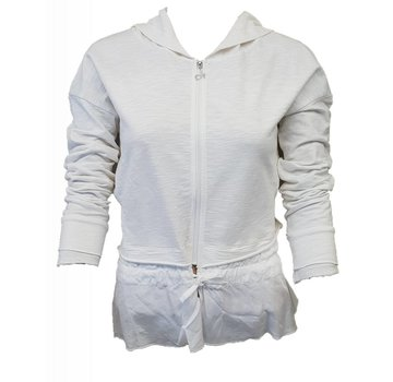 DEHA Sweatshirt mit Kaputze - White