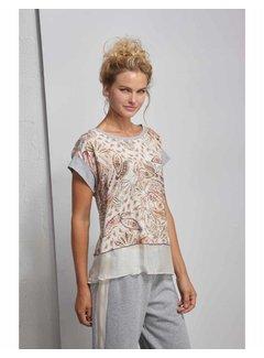 DEHA T-Shirt mit Print - Romantic Beige