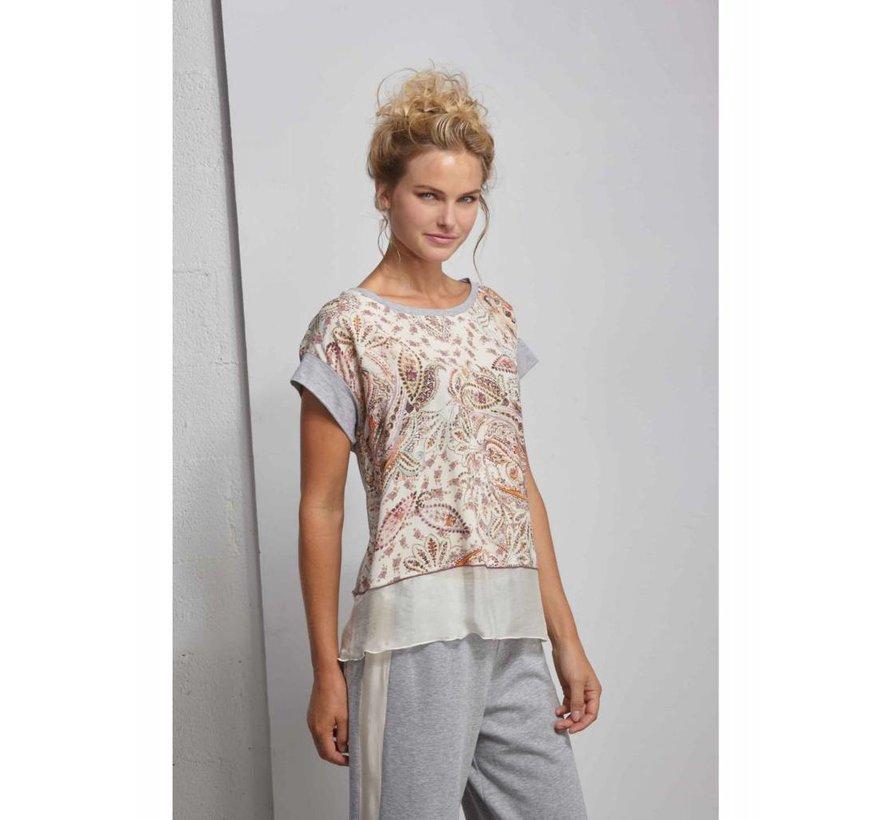 T-Shirt mit Print - Romantic Beige