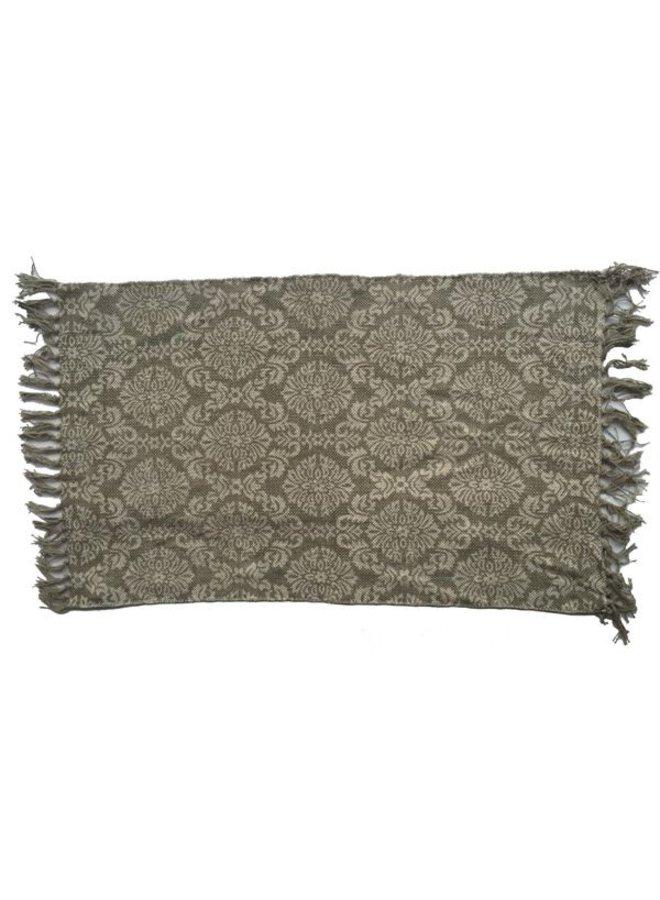 Vintage Teppich mit Ornamenten - 3 Grössen - Beige Grau