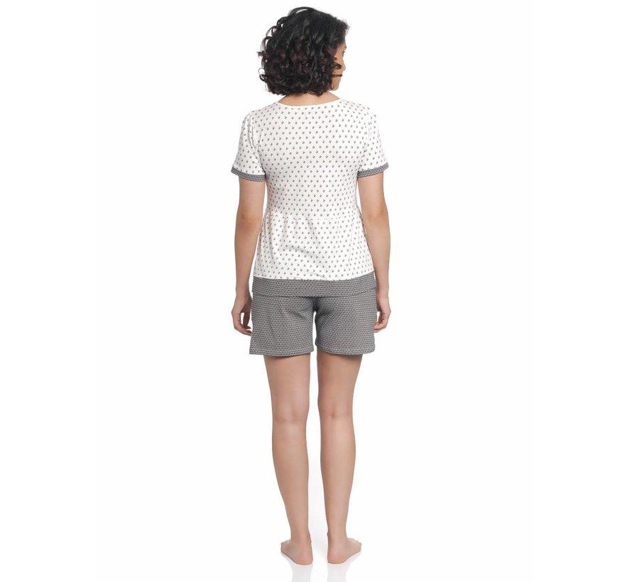 Pyjama | La Fillette Douce Short Pyjama | Cream