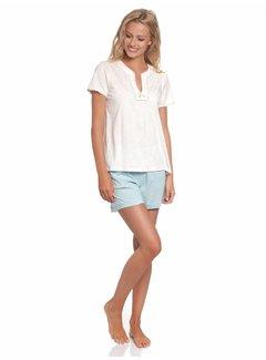 Vive Maria Pyjama | Bonbon Short Pyjama | Cream-Lightblue