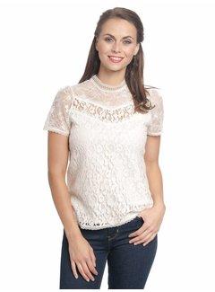 Vive Maria Shirt mit Spitze | Dis Oui Shirt  | Cream