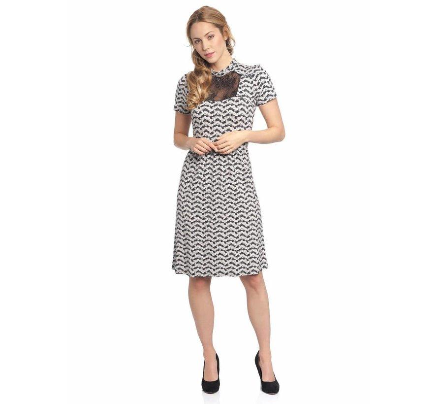 Kleid mit Spitze | Rivoli Dress  | Black